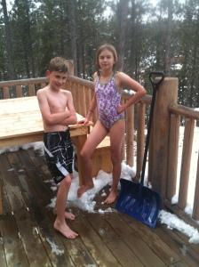 Let's go snowming mom!!